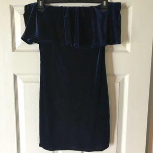 Velvet Off-the-Shoulder Dress